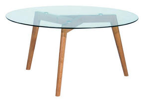 SOFFBORD - klar/ekfärgad, Design, glas/trä (90/90/45cm) - Carryhome