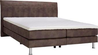 POSTELJA BOXSPRING 180 cm   x 200 cm  , tekstil rjava - aluminij/rjava, Design, umetna masa/tekstil (180/200cm) - Bentley