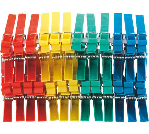 WÄSCHEKLAMMERN - Basics, Kunststoff (8cm)