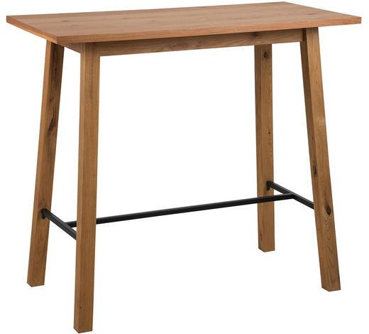 BAROVÝ STŮL, divoký dub, černá, barvy dubu - černá/barvy dubu, Design, kov/dřevo (117/58/105cm) - Carryhome