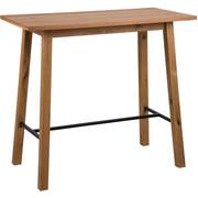 BARTISCH Wildeiche furniert rechteckig Schwarz, Eichefarben  - Eichefarben/Schwarz, Design, Holz/Metall (117/58/105cm) - Carryhome