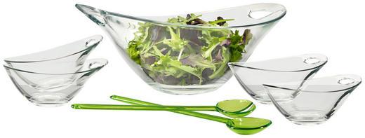 SCHÜSSELSET Glas, Kunststoff 6-teilig - Transparent/Grün, Basics, Glas/Kunststoff - Homeware