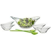 Schüsselset - Transparent/Grün, Design, Glas/Kunststoff - Homeware