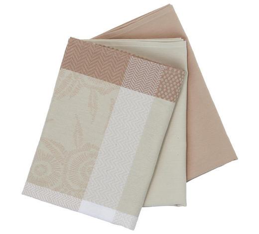 GESCHIRRTUCH-SET 3-teilig Taupe - Taupe, Basics, Textil (50/70cm) - Esposa