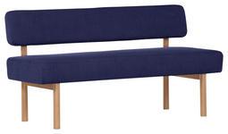 SITZBANK 160/87/58 cm  in Blau  - Blau/Buchefarben, KONVENTIONELL, Holz/Textil (160/87/58cm) - Cantus