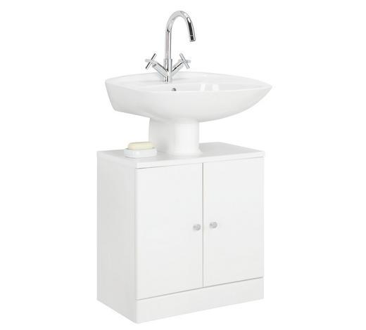 SPODNÍ SKŘÍŇKA POD UMYVADLO, bílá - bílá/barvy chromu, Konvenční, kompozitní dřevo (55/56/33cm) - Xora
