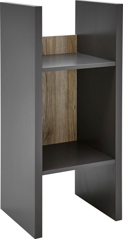 REGAL Eichefarben, Graphitfarben - Eichefarben/Graphitfarben, KONVENTIONELL, Holzwerkstoff (40/89/34cm) - Voleo