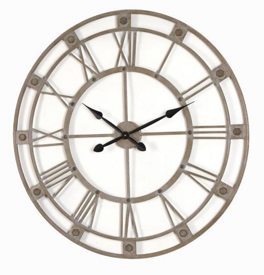 WANDUHR  Grau 90 cm - Grau, Metall (90cm) - Ambia Home