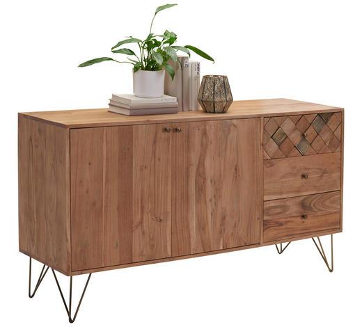 KOMMODE 145/80/45 cm - Messingfarben/Bronzefarben, Trend, Holz/Metall (145/80/45cm) - Ambia Home