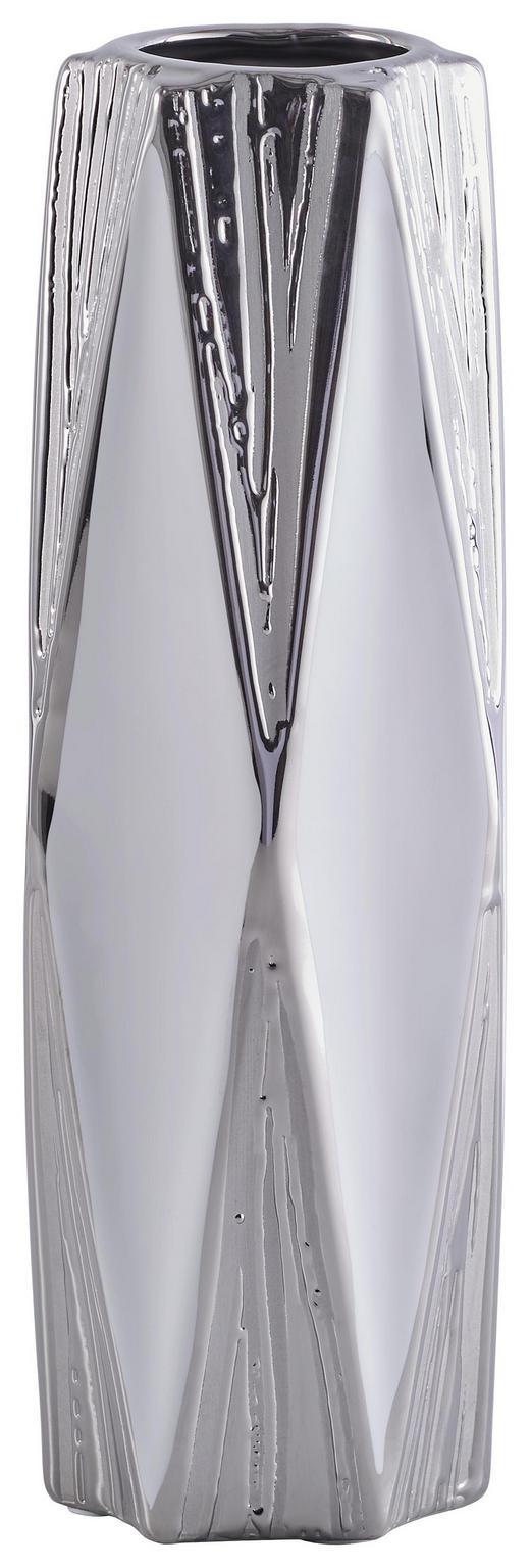 VASE - Silberfarben/Weiß, Basics, Keramik (10/30,5cm) - Ambia Home