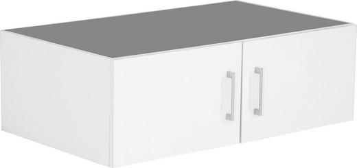 AUFSATZSCHRANK 100/32/57 cm Weiß - Chromfarben/Weiß, Design, Kunststoff (100/32/57cm) - Carryhome