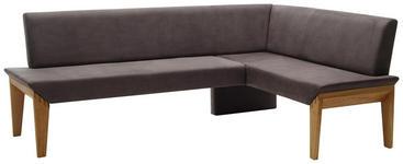 ECKBANK 263/162 cm  in Grau, Eichefarben  - Eichefarben/Grau, KONVENTIONELL, Holz/Textil (263/162cm) - Venda