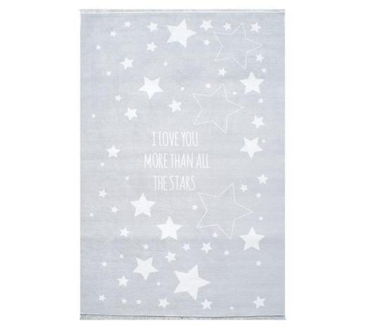 KINDERTEPPICH  100/160 cm  Silberfarben, Weiß   - Silberfarben/Weiß, Basics, Textil (100/160cm)