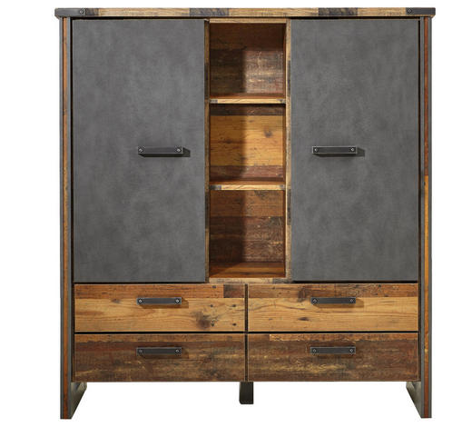 Highboard Grau Pinienfarben