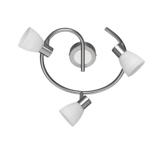 LED-STRAHLER - Weiß/Nickelfarben, KONVENTIONELL, Glas/Metall (29,5/18cm)