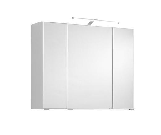 SPIEGELSCHRANK Weiß - Chromfarben/Weiß, Design, Glas/Holzwerkstoff (80/64/20cm) - Xora