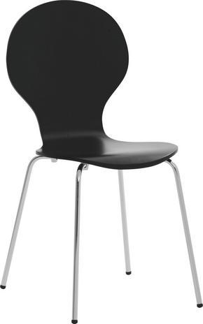 STOL - svart, Design, metall/trä (55,6/87,3/46,2cm) - Low Price