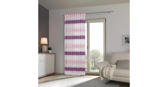 FERTIGVORHANG halbtransparent  - Lila, KONVENTIONELL, Textil (140/245cm) - Esposa