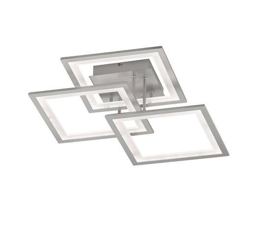 LED-DECKENLEUCHTE   - Silberfarben, Design, Kunststoff/Metall (50/17cm) - Novel