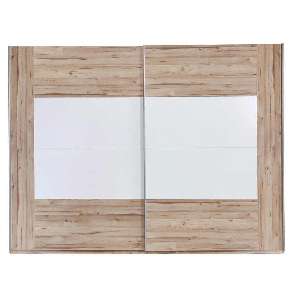 Ti`me SKŘÍŇ S POS. DVEŘMI.(HOR.VED.), bílá, barvy dubu, 270/210/61 cm