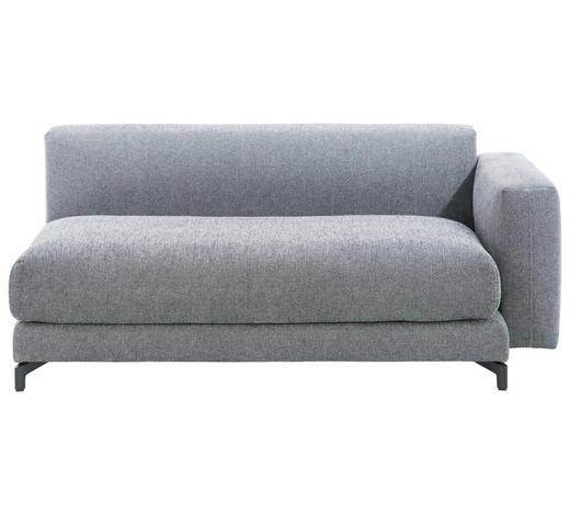 SOFAELEMENT in Textil Grau - Schwarz/Grau, Design, Textil/Metall (169/72cm) - Rolf Benz