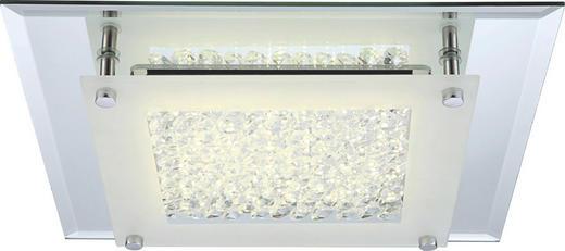 LED-DECKENLEUCHTE - Chromfarben, Design, Glas/Metall (42/42/6cm)