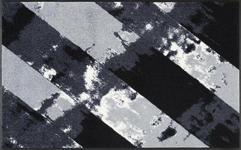 FUßMATTE 75/120 cm Graphik Grau, Hellgrau, Schwarz - Hellgrau/Schwarz, MODERN, Kunststoff/Textil (75/120cm) - Esposa