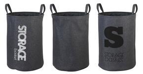 TVÄTTKORG - grå, Basics, plast (38/54cm)