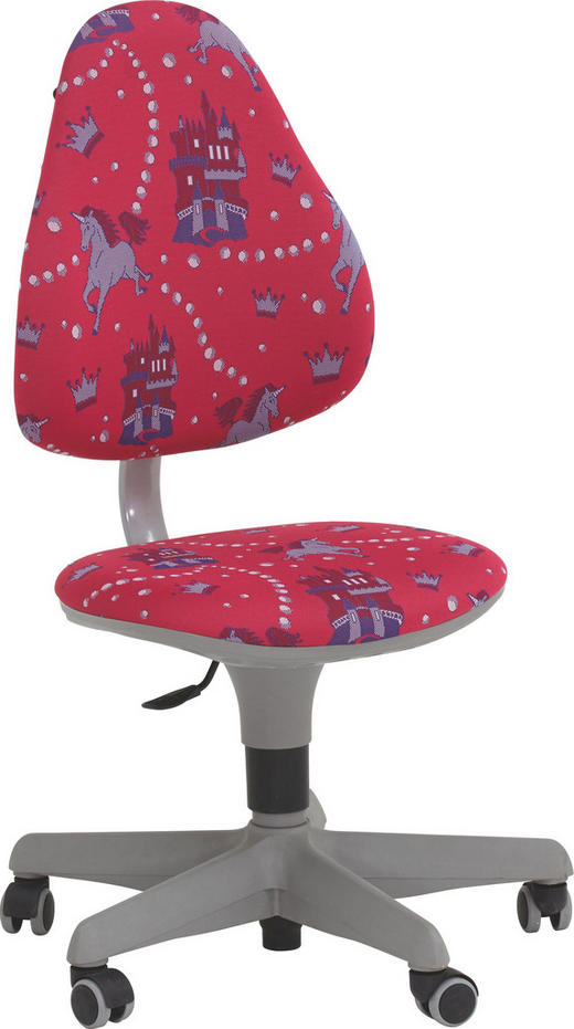 JUGENDDREHSTUHL Blau, Lila, Pink - Blau/Pink, Basics, Kunststoff/Textil (63/86-102/53cm) - Paidi