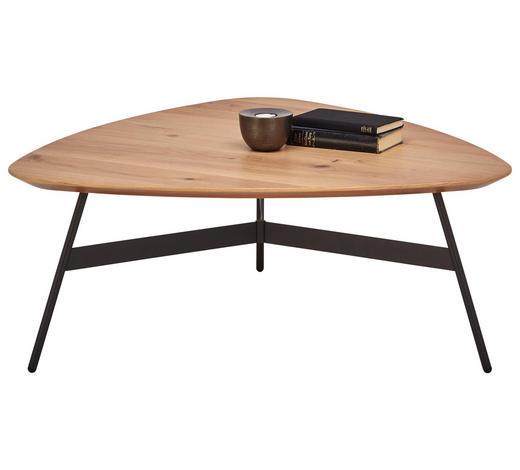 COUCHTISCH in Holz, Metall 87/90/35 cm - Eichefarben/Anthrazit, Design, Holz/Metall (87/90/35cm) - Venjakob