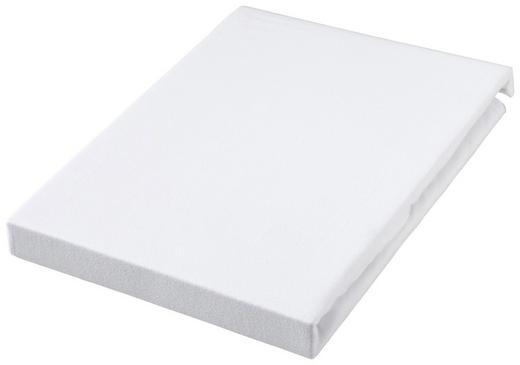 TOPPER SPANNBETTTUCH Jersey Weiß bügelfrei - Weiß, Basics, Textil (90/190cm) - Novel