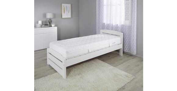 Taschenfederkernmatratze Toppio 90x200cm H2/H3 - Weiß, Textil (90/200cm) - Primatex