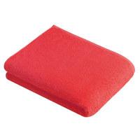 DUSCHTUCH 67/140 cm - Rot, Basics, Textil (67/140cm) - Vossen