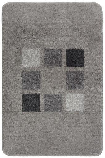 BADTEPPICH in Silberfarben 70/120 cm - Silberfarben, KONVENTIONELL, Kunststoff/Textil (70/120cm) - Kleine Wolke