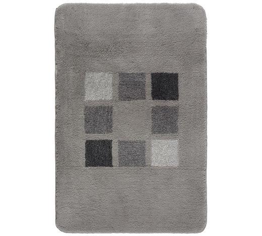 BADTEPPICH  Silberfarben  70/120 cm     - Silberfarben, KONVENTIONELL, Kunststoff/Textil (70/120cm) - Kleine Wolke
