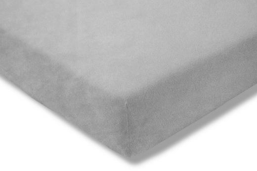 SPANNBETTTUCH Platinfarben bügelfrei - Platinfarben, Basics, Textil (100/200cm) - Estella