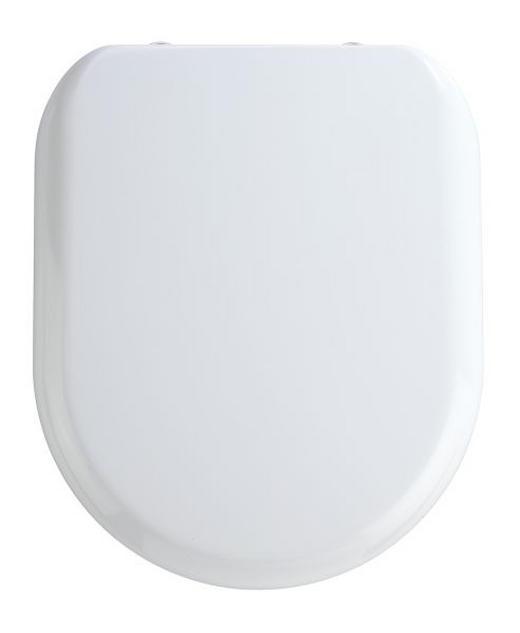 WC-SITZ Weiß - Weiß, Basics, Kunststoff (37/44cm)