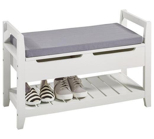 SCHUHREGAL matt Grau, Weiß  - Weiß/Grau, Design, Holzwerkstoff/Textil (80/50/34,5cm) - Xora