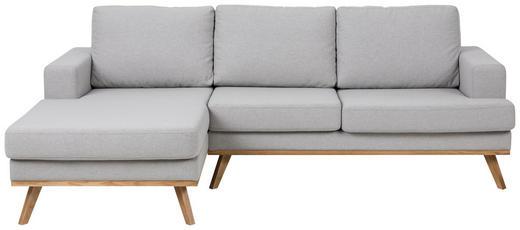 WOHNLANDSCHAFT Webstoff Rückenkissen Hellgrau - Klar/Hellgrau, KONVENTIONELL, Holz/Textil (148/233cm) - Carryhome