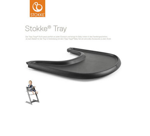 Tripp Trapp Tray Table Top Black  - Schwarz, Basics, Kunststoff (45/41/4cm) - Stokke