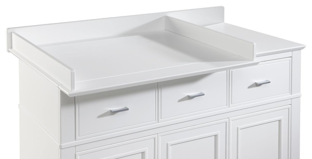 WICKELANSATZ Isolde - Weiß, Basics, Holz (131,5/12/83,5cm) - JIMMYLEE