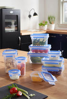 Frischhaltedosen-Set - Blau/Klar, Basics, Kunststoff - EMSA