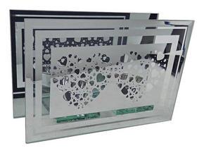 VÄRMELJUSHÅLLARE - klar/silver, Basics, glas (18,5/6,3/12cm) - Ambia Home