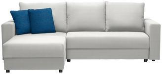WOHNLANDSCHAFT in Textil Petrol, Weiß - Petrol/Schwarz, Design, Kunststoff/Textil (176/246cm) - Xora
