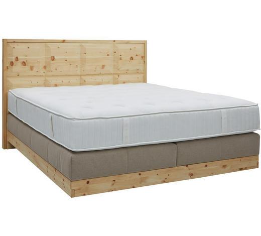 Boxspringbett 180 cm   x 200 cm   in Holz, Textil Beige  - Beige, Natur, Holz/Textil (180/200cm) - Valnatura