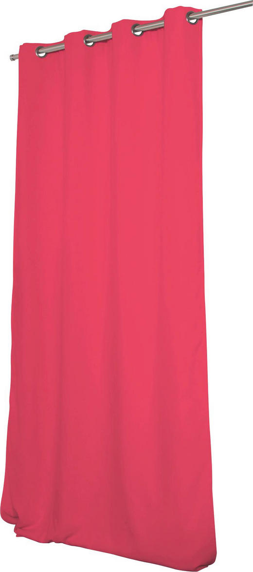 WÄRMESCHUTZVORHANG  Verdunkelung  145/260 cm - Pink, MODERN, Textil/Metall (145/260cm)