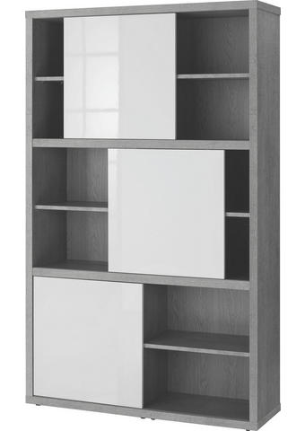 REGAL Grau, Weiß  - Weiß/Grau, Design, Holzwerkstoff (120/195/35,6cm) - Carryhome
