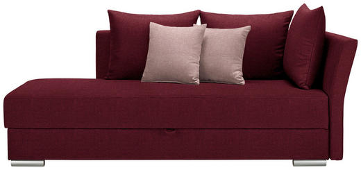 LIEGE in Textil Rot, Altrosa - Chromfarben/Rot, Design, Kunststoff/Textil (220/93/100cm) - Xora