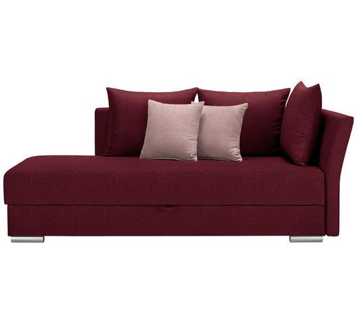 LIEGE Webstoff Rot, Altrosa - Chromfarben/Rot, Design, Kunststoff/Textil (220/93/100cm) - Xora