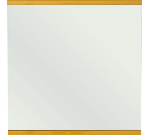 SPIEGEL 75/75,6/4,6 cm - Gelb, Design, Glas/Holzwerkstoff (75/75,6/4,6cm) - Invivus